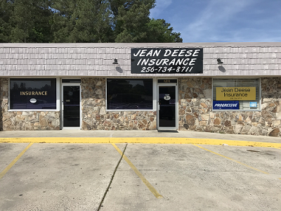 front of office of Jean Deese Insurance Agency
